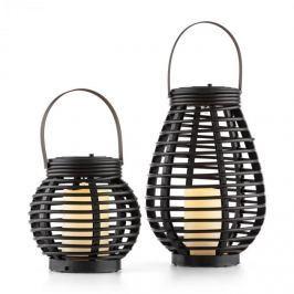 Blumfeldt Lucid Twins, napelemes lámpák, készlet, polyrattan, 600 mAh, 14,8 x 56 cm