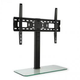 Auna TV állvány, L méretű, 76 cm-es magasság, állítható magasságú, 23-55 hüvelyk, üveg állvány