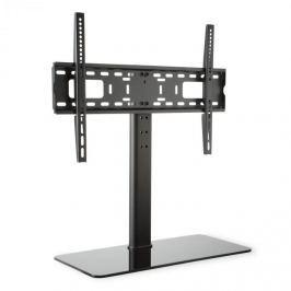 Auna TV állvány, fekete, L méretű, 76 cm-es magasság, állítható magasságú, 23-55 hüvelyk, üveg állvány