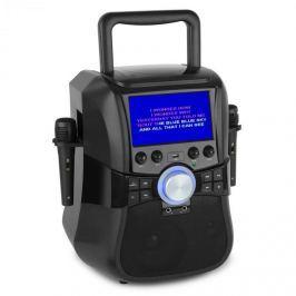 """Auna Stage Hero karaoke rendszer, DVD, 7"""", TFT kijelző, 2 mikrofon, 25 W RMS"""