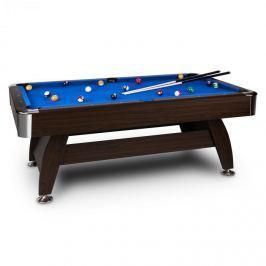 """OneConcept Leeds, kék, 8"""" (122 x 79 x 244 cm), biliárdasztal, dákó, golyókészlet"""