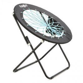 Klarfit Bounco, fekete/kék, bungee szék, 81 x 41/85 cm