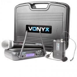 Vonyx WM73C, vezeték nélküli 2 csatornás UHF adó rendszer