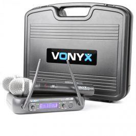 Vonyx WM73, vezeték nélküli 2 csatornás UHF adó rendszer
