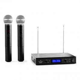 Malone VHF-400 Duo 1, 2 csatornás VHF vezeték nélküli mikrofon, 1x vevőkészülék + 2x kézi mikrofon