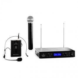 Malone VHF-400 Duo 3, 2 csatornás VHF vezeték nélküli mikrofon, 1x vevőkészülék + 1x kézi mikrofon + 1x headset mikrofon