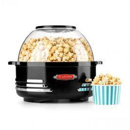 Klarstein Couchpotato, fekete, popcorn készítő, elektromos eszköz popcorn készítésére