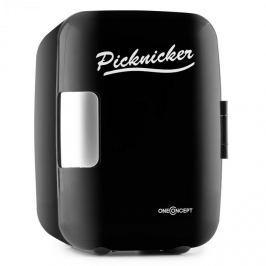 OneConcept Picknicker, fekete, termodoboz hűtő/melegen tartó funkcióval, mini, 4 l, eMark tanúsítvány