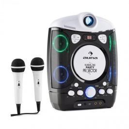 Auna Kara Projectura karaoke rendszer projektorral, LED fény show, fekete-szürke