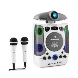 Auna KaraProjectura karaoke eszköz projektorral, LED fényshow, USB, fehér