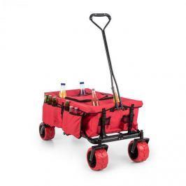 Waldbeck Red Devil kézikocsi, összecsukható, 68 kg, oldalsó táskák, piros