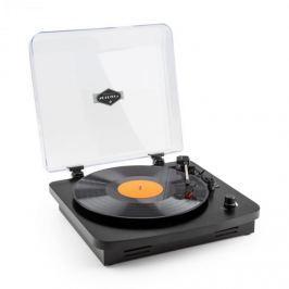 Auna TT370 retró lemezjátszó, hangszóró, USB, MP3, AUX, fekete