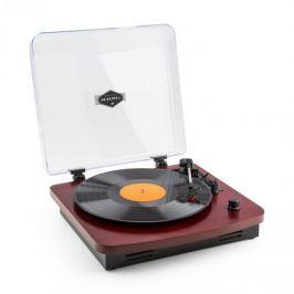 Auna TT370 retró lemezjátszó, hangszóró, USB, MP3, AUX, cseresznyefa