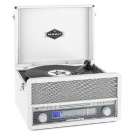 Auna Epoque 1907, retro audio rendszer, gramofon, kazetták, bluetooth, USB, CD, AUX