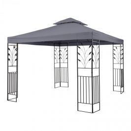 Blumfeldt Odeon Grey, sötétszürke, kerti pavilon, lugas, acél, poliészter, 3 x 3 m