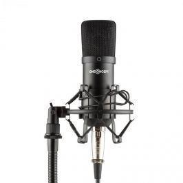 OneConcept Mic-700 stúdió mikrofon, Ø 34 mm, univerzális, pók, szél elleni védelem, XLR, fekete