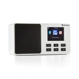 """Auna IR-110 internet rádió, 2,4"""" színes TFT kijelző, akkumulátor, W-LAN, USB, fehér"""