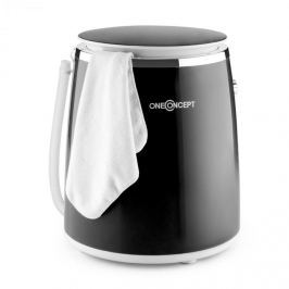 OneConcept Ecowash-Pico mini mosógép, centrifuga funkció, 3,5 kg, 380 W, fekete