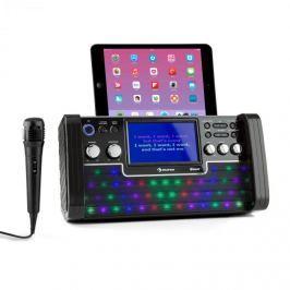 Auna DiscoFever bluetooth karaoke rendszer, LED 7'' TFT kijelző, CD, USB, fekete