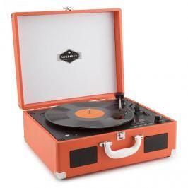 Auna Peggy Sue OR hordozható retró gramofon, CD USB SD, narancssárga