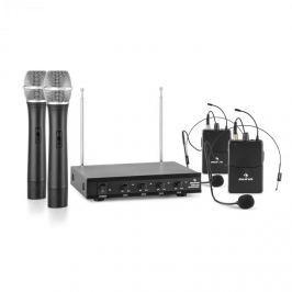Auna VHF-4-H-HS 4-csatornás VHF mikrofon készlet, 2 x headset, 2 x kézi mikrofon
