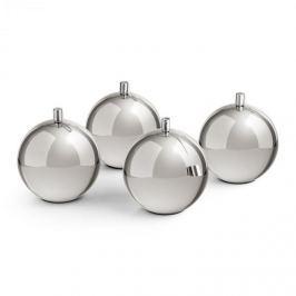 Blumfeldt Blumfeld Quattrosfera, ezüst, 4 lánggömb, gömb alakú asztali lámpák, nemesacél, bio lámpaolaj