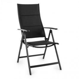 Blumfeldt Stylo Royal Black, fekete, összecsukható szék, alumínium