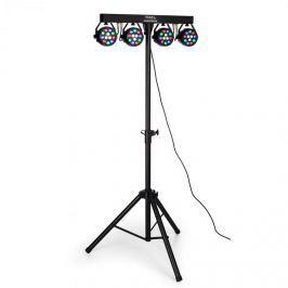 Ibiza DJLIGHT80LED, állvány négy 1 W-tos RGBW LED PAR reflektorral