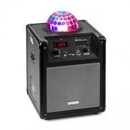 Ibiza Kube 60 hordozható bluetooth hangfal, USB, SD, AUX, FM, akkumulátor, ezüst