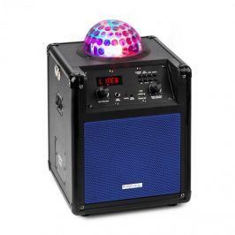 Ibiza Kube 60 hordozható bluetooth hangfal, USB, SD, AUX, FM, akkumulátor, kék