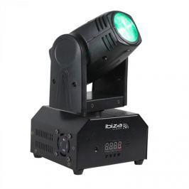 Ibiza LMH250-RC, forgófej, mozgó fej, moving head, 10 W CREE LED RGBW 4 az1-ben, DMX, távirányító