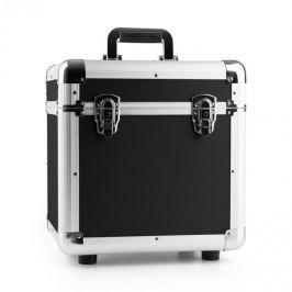 """Power Dynamics RC100, fekete, 12"""", alumínium lemeztartó koffer, bakelittartó, 100 LP lemez"""