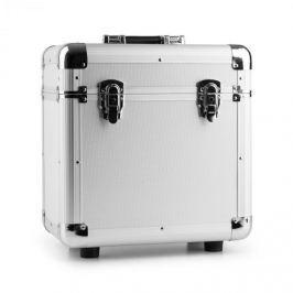 """Power Dynamics RC80, ezüst, 12"""", alumínium lemeztartó koffer, bakelittartó, 80 LP lemez"""