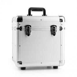 """Power Dynamics RC100, ezüst, 12"""", alumínium lemeztartó koffer, bakelittartó, 100 LP lemez"""