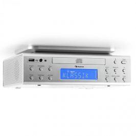 Auna KRCD-150 beépíthető konyhai rádió, CD, USB, AUX, FM, RDS, alarm, távirányító, ezüst