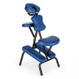 Klarfit MS 300 masszázs szék, tetováló szék, 120 kg, szállítótáska, kék