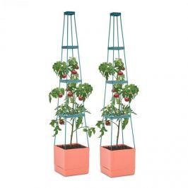 Waldbeck Tomato Tower, virágcserép paradicsomra, két darabos készlet, 25x150x25cm, rács a rögzítéshez, PP