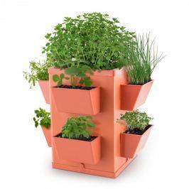 Waldbeck Herbie Hero, virágcserép, 8 tálka növényekre, PP, téglaszín