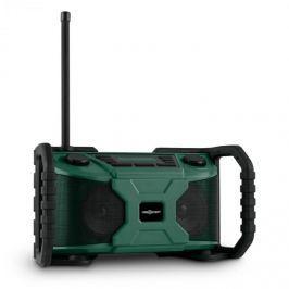 OneConcept Workside, zöld, outdoor hangfal rádióval, DAB+, FM, bluetooth, USB, elemekkel üzemeltethető