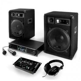 """Electronic-Star DJ szett: """"Basstigall"""" - erősítő, hangfalak, mikrofon, 1200W"""