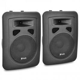 Skytec PA hangfal pár, 20 cm-res aktív szekrény, 2x200 W, ABS