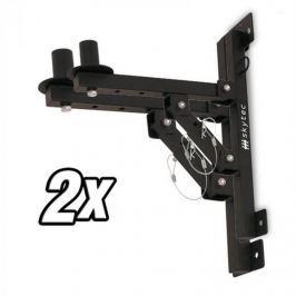 Skytec 2 x fali tartó PA hangfalakhoz, állvány, fekete, 50 kg max.