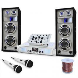Electronic-Star DJ PA Polar Bear szett 2200W, keverőpult erősítő, hangfalak