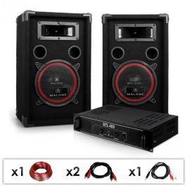 """Electronic-Star DJ PA szett """"DJ-12"""", PA erősítő, hangfalak, 1000 W"""