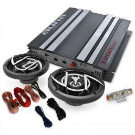 Auna Autó Hifi szett, Platin-Line 200, erősítő, hangfalak, 1200 W