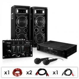 Electronic-Star DJ - PA szett DJ–24M, erősítő, keverő, hangfalak, mik, 1200W