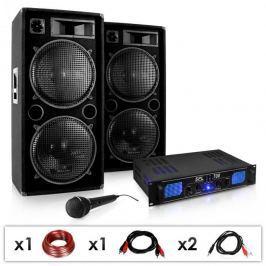 """Electronic-Star DJ PA szett """"DJ-26"""" erősítő, PA hangfalak 2000W"""