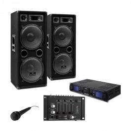 Electronic-Star DJ PA szett DJ-27,erősítő, PA hangfalak 2000W,USB,SD,MP3