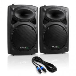 "Ibiza SLK PA-hangfalak, 2 x 38cm (15""), Master/Slave, 1500W, USB, SD, MP3"