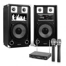 Electronic-Star STAR-10A aktív hangfalpár vezeték nélküli mikrofonokkal